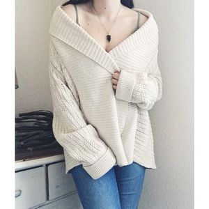 Calvin Klein Open Cardigan Cable Knit